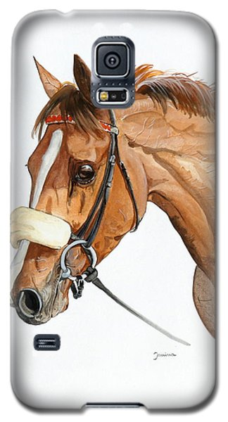 Galaxy S5 Case featuring the painting Funny Face by Janina  Suuronen