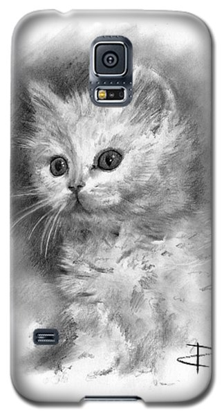Galaxy S5 Case featuring the drawing Furball by Paul Davenport