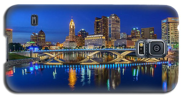 Fx2l530 Columbus Ohio Night Skyline Photo Galaxy S5 Case