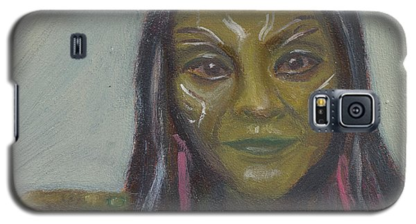 Galaxy S5 Case featuring the painting G Is For Gamora by Jessmyne Stephenson