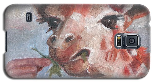 Galaxy S5 Case featuring the painting G Is For Giraffe by Jessmyne Stephenson
