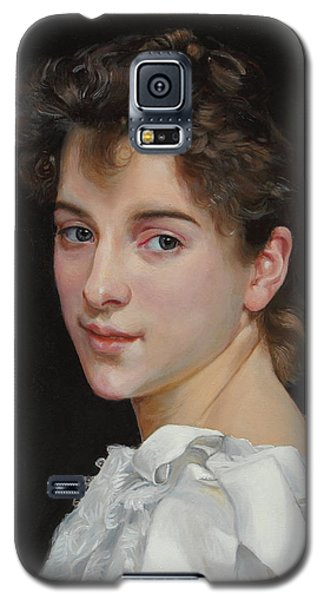 Galaxy S5 Case featuring the painting Gabrielle Cot After W. Bougereau by Glenn Beasley
