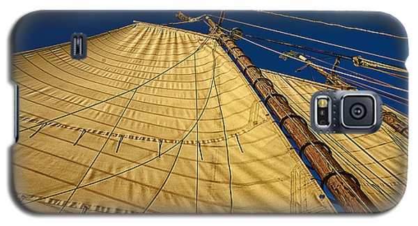 Galaxy S5 Case featuring the photograph Gaff Rigged Mainsail by Marty Saccone