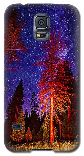 Galaxy S5 Case featuring the photograph Galaxy Stars By The Campfire by Jerry Cowart