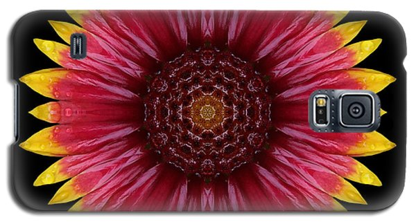 Galaxy S5 Case featuring the photograph Galliardia Arizona Sun Flower Mandala by David J Bookbinder