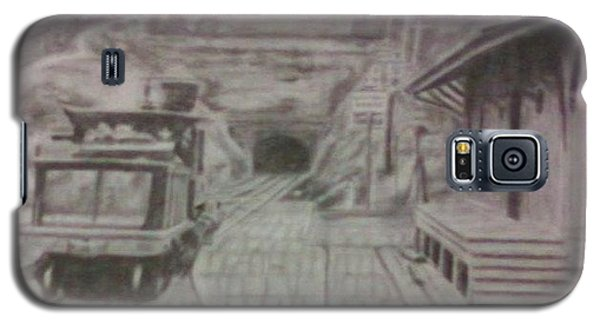 Galaxy S5 Case featuring the drawing Gallitzin Tunnel by Thomasina Durkay