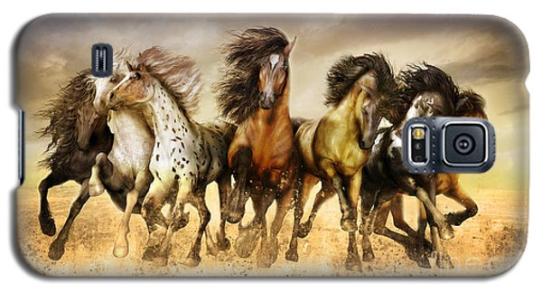 Galloping Horses Full Color Galaxy S5 Case by Shanina Conway