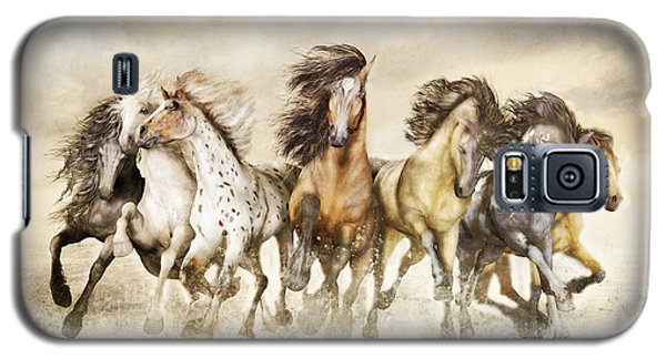 Galloping Horses Magnificent Seven Galaxy S5 Case by Shanina Conway