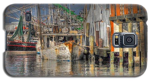 Galaxy S5 Case featuring the photograph Galveston Shrimp Boats by Savannah Gibbs