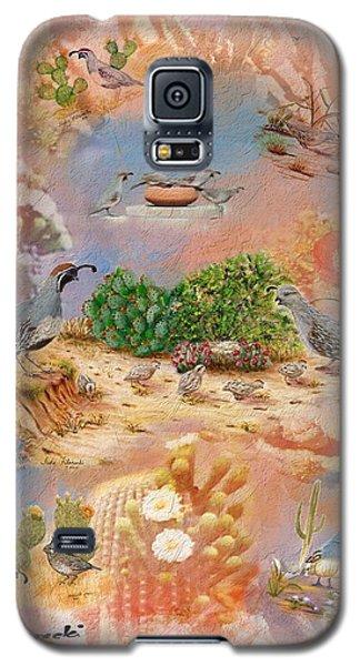 Gambel Quail Collage-southwest Art Galaxy S5 Case