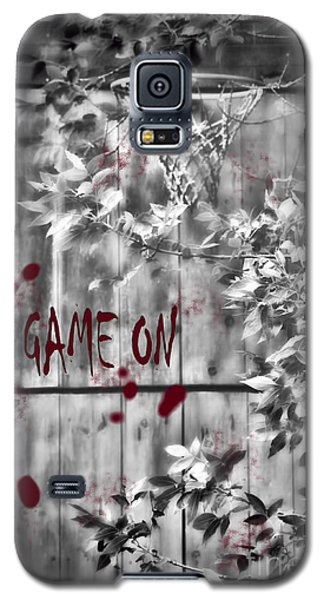 Game On Basketball Black And White Galaxy S5 Case