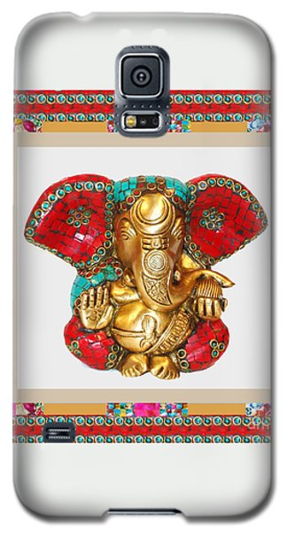Ganapati Ganesh Idol Hinduism Religion Religious Spiritual Yoga Meditation Deco Navinjoshi  Rights M Galaxy S5 Case by Navin Joshi