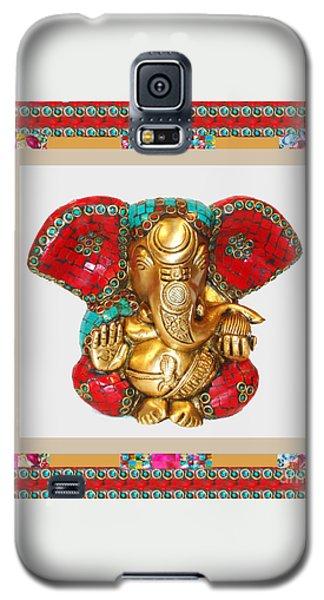Ganapati Ganesh Idol Hinduism Religion Religious Spiritual Yoga Meditation Deco Navinjoshi  Rights M Galaxy S5 Case by Navin Joshi