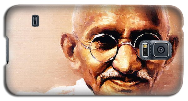 Gandhi In Color Galaxy S5 Case by Wayne Pascall