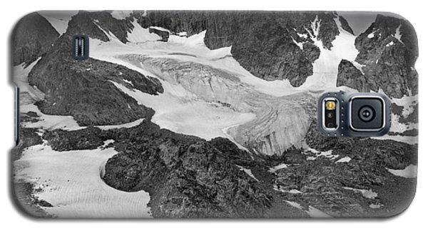 509427-bw-gannett Peak And Gooseneck Glacier, Wind Rivers Galaxy S5 Case