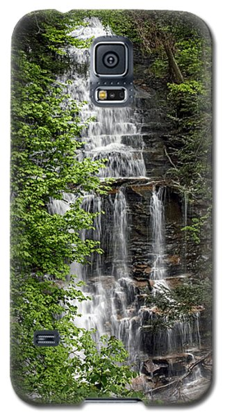 Ganoga Falls Through The New Spring Foliage Galaxy S5 Case