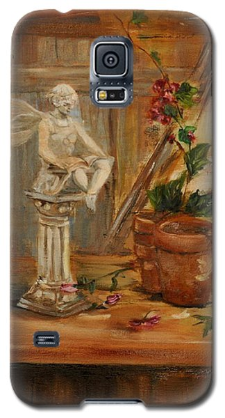 Galaxy S5 Case featuring the painting Garden Angel Two by Lindsay Frost