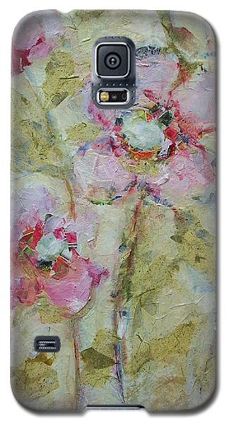 Galaxy S5 Case featuring the painting Garden Bliss by Mary Wolf