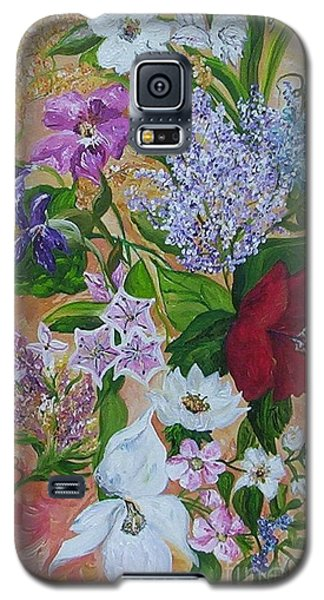 Galaxy S5 Case featuring the painting Garden Delight by Eloise Schneider