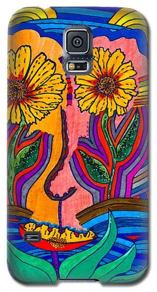 Garden Face - Lotus Pond - Daisy Eyes Galaxy S5 Case