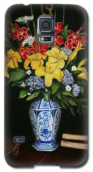 Galaxy S5 Case featuring the painting Garden Flowers  by Sandra Nardone