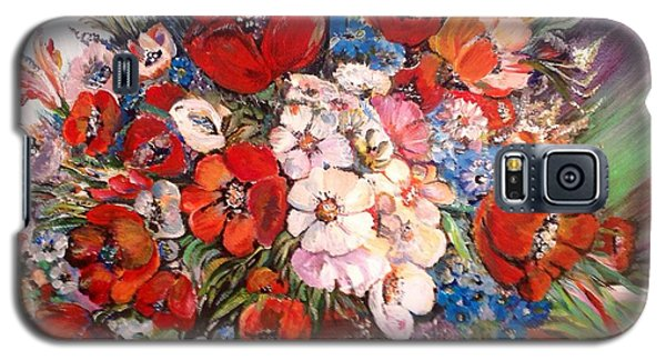 Galaxy S5 Case featuring the painting Garden Goddess by Iya Carson
