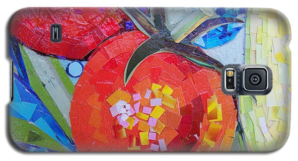 Galaxy S5 Case featuring the mixed media Garden Harvest Collage Detail by Shawna Rowe