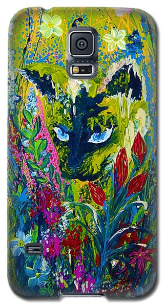 Garden Hunter Cat Painting Galaxy S5 Case