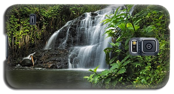 Galaxy S5 Case featuring the photograph Garden Isle Waterfall by Hawaii  Fine Art Photography