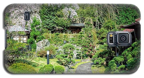 Garden Of A Japanese Ryokan With Sakura - Cherry Blossom Galaxy S5 Case