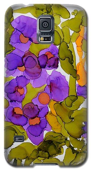 Garden Of Hollyhocks Galaxy S5 Case by Vicki  Housel