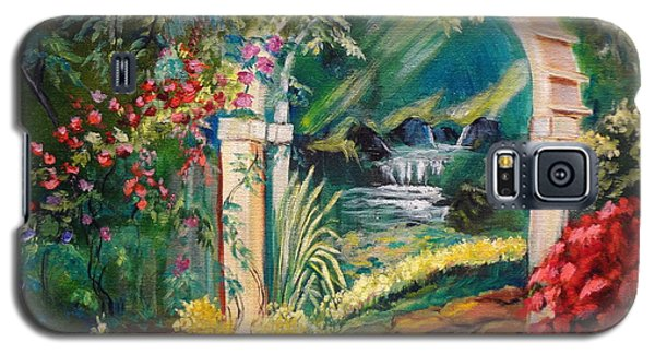 Galaxy S5 Case featuring the painting Garden Of Serenity Beyond by Jenny Lee