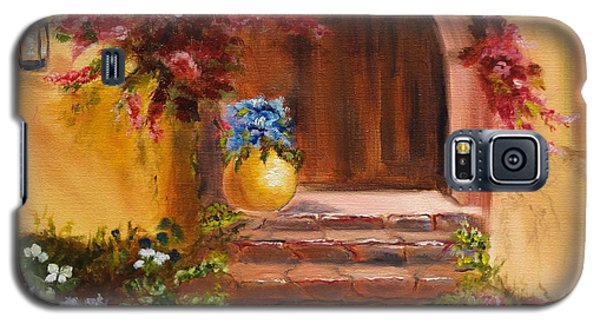 Galaxy S5 Case featuring the painting Garden Of Serenity by Jenny Lee