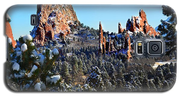 Galaxy S5 Case featuring the photograph Garden Of The Gods After Snow Colorado Landscape by Jon Holiday