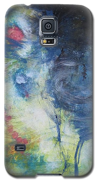 Galaxy S5 Case featuring the painting Garden Rainbow Reflection by John Fish