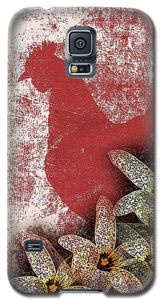 Garden Rooster Galaxy S5 Case by Lesa Fine