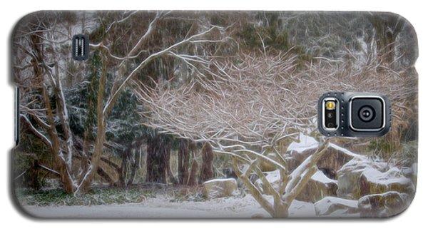 Garden Scene During Winter Snow At Sayen Gardens 2 Galaxy S5 Case