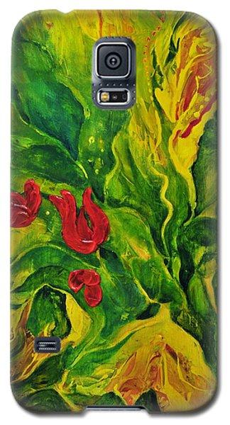 Galaxy S5 Case featuring the painting Garden Series No.2 by Teresa Wegrzyn