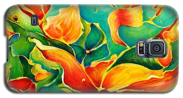 Galaxy S5 Case featuring the painting Garden Series No.3 by Teresa Wegrzyn