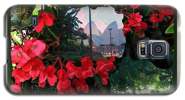 Galaxy S5 Case featuring the photograph Garden Whispers In A Green Frame by Leanne Seymour