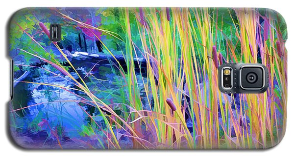 Garden With Koi Pond And Cattails Galaxy S5 Case