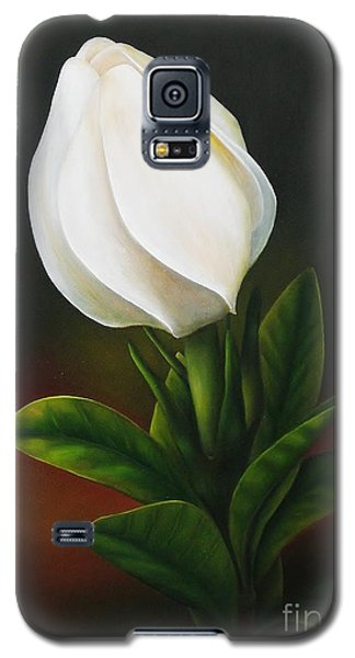 Galaxy S5 Case featuring the painting Gardenia by Paula L
