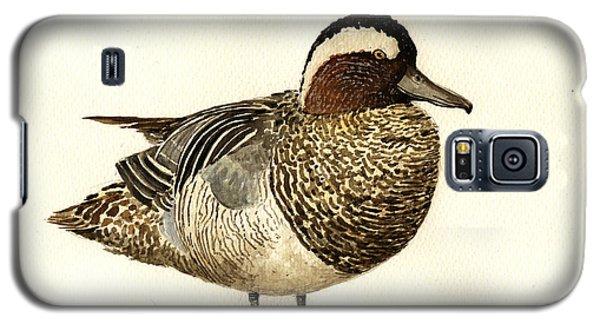 Duck Galaxy S5 Case - Garganey Duck by Juan  Bosco