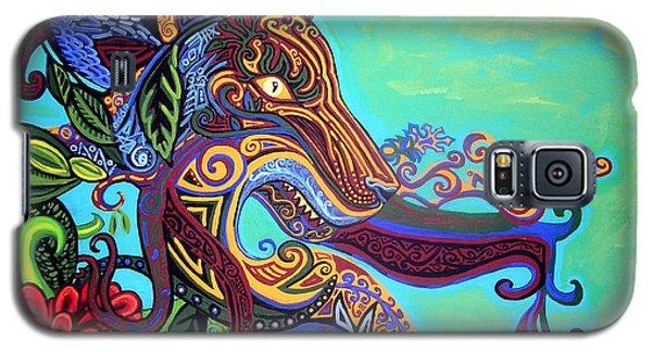 Gargoyle Lion 3 Galaxy S5 Case by Genevieve Esson