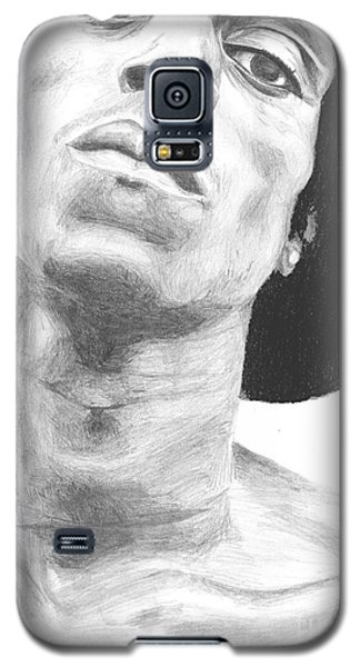 Galaxy S5 Case featuring the drawing Garnett 3 by Tamir Barkan