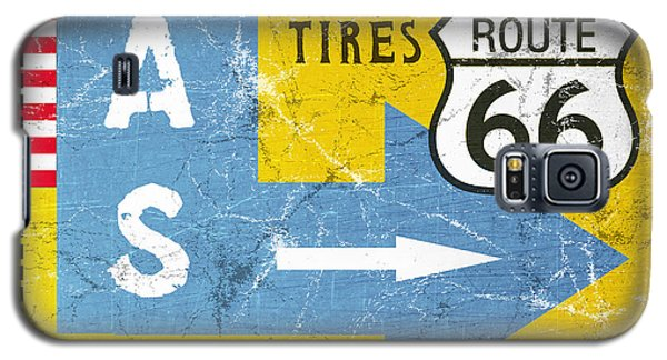 Truck Galaxy S5 Case - Gas Next Exit- Route 66 by Linda Woods