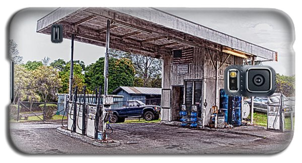 Galaxy S5 Case featuring the photograph Gasoline Station by Jim Thompson