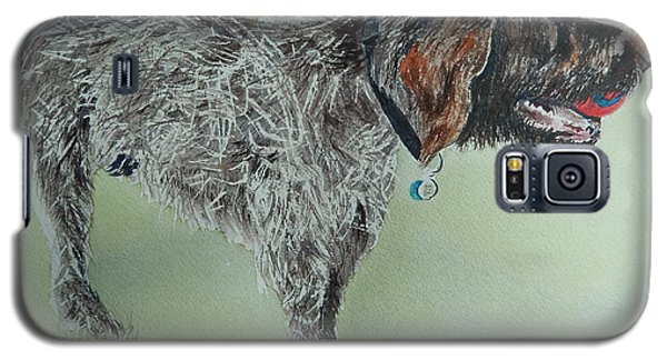 Galaxy S5 Case featuring the painting Gaston The Griffon by Betty-Anne McDonald