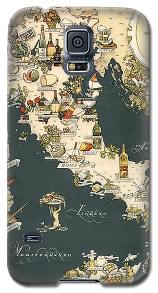 Gastronomic Map Of Italy 1949 Galaxy S5 Case