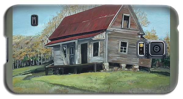 Galaxy S5 Case featuring the painting Gates Chapel - Ellijay Ga - Old Homestead by Jan Dappen